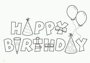 Birthday Coloring Pages for Aunts Happy Birthday Coloring Pages Template to Print for
