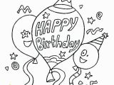 Birthday Coloring Pages to Print Happy Birthday Coloring Page Happy Birthday Coloring Page Happy