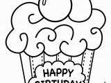 Birthday Cupcake Coloring Page Happy Birthday Cupcake Coloring Pages