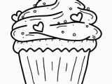 "Birthday Cupcake Coloring Page Icolor ""cupcakes"" Cupcake with Sprinkles & Tiny Hearts 564"