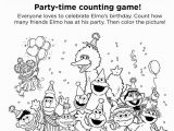 Birthday Party Coloring Pages for Kids 1288 Elmo Free Clipart 5