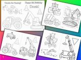 Birthday Party Coloring Pages for Kids Construction Birthday Party Coloring Book Construction Activity Book Pdf File