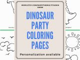 Birthday Party Coloring Pages for Kids Dinosaur Party Coloring Pages