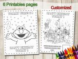 Birthday Party Coloring Pages for Kids Elmo Coloring Pages Elmo Party Favors Elmo Birthday Party Favor Elmo Coloring Book Elmo Activities