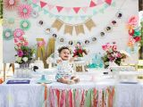 Birthday Party Wall Murals Blooming Spring Fling First Birthday Party