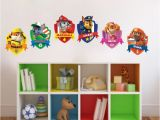 Birthday Party Wall Murals Paw Patrol Kids Wall Decal Decor