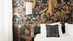 Black and Gold Wall Mural Black and Gold Mural 25 Beautiful Home Murals