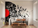 Black and Gold Wall Mural Ohpopsi Smashed Vinyl Record Music Wall Mural • Available In
