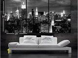 Black and White Cityscape Wall Murals Nan Wind 3 Pcs Wall Art Beautiful New York City Skyline