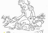 Black and White Coloring Pages Disney Snow and Animal Friends