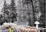 Black and White forest Mural Wallpaper 233 Best forest Wall Murals Images In 2019