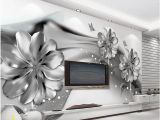 Black and White forest Mural Wallpaper 3d Wall Murals Wallpaper Black and White Flower Custom Wallpaper