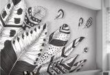 Black and White forest Mural Wallpaper Custom 3d Wall Mural Wallpaper Abstract Modern Black White Feather