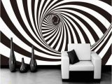 Black and White forest Wall Mural 3d Zebra Stripes Swirl Modern Abstract Wallpaper Mural