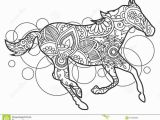 Black and White Horse Coloring Pages Black and White Horse Hand Drawn Doodle Stock Illustration