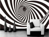 Black and White Nyc Wall Mural 3d Zebra Stripes Swirl Modern Abstract Wallpaper Mural