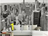 Black and White Nyc Wall Mural Retro Nostalgisches Schwarzweiss sofa Fernsehhintergrundwanddekoration Tapetenstangenhotelwohnzimmer Tapetenwandgemälde New York 3d