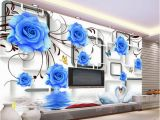 Black and White Rose Wall Mural Custom Any Size Blue Rose Swan 3d Tv Wall Mural 3d Wallpaper 3d Wall Papers for Tv Backdrop Wallpapers Widescreen Wallpapers Widescreen High