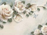 Black and White Rose Wall Mural European Wallpaper White Rose Flower Mural Wallpapers Living Room Wall Paper 3d Papel Pintado Pared Rollos Papel De Parede A Hd Wallpaper A Hd