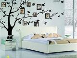 Black and White Tree Wall Mural Family Tree Wall Decal Peel & Stick Vinyl Sheet Easy to Install & Apply History Decor Mural for Home Bedroom Stencil Decoration Diy