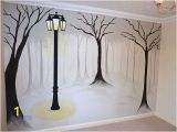 Black and White Tree Wall Mural Joanna Perry Murals Misty Tree Mural