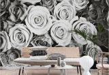 Black and White Wall Mural Wallpaper Roses Black and White Wall Mural Bedroom