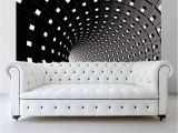 Black and White Wall Murals Of Paris Abstract Modern Infinity Tunnel Wall Mural