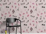 "Black and White Wall Murals Of Paris Tapeten Wandbild ""fashion Illustration"" Murals Wallpaper"