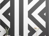 Black and White Wallpaper Murals for Walls Zig Zag Black and White Wallpaper Mural Muralswallpaper