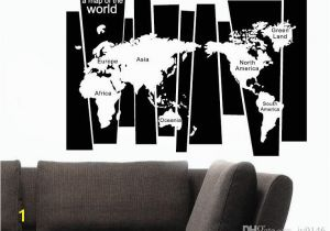 Black and White World Map Wall Mural 105 75cm Map Wall Sticker Murals Pvc A Map World Lettered