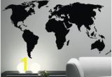 Black and White World Map Wall Mural 28 Best World Map Sticker Decor Images