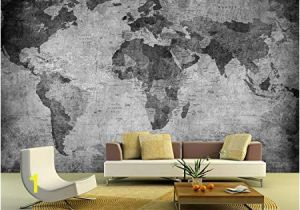 Black and White World Map Wall Mural Bilderdepot24 Self Adhesive Wallpaper Wall Mural World Map