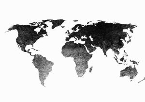 Black and White World Map Wall Mural Black World Map Wallpapers High Resolution for Free Wallpaper
