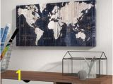 Black and White World Map Wall Mural Map Wall Art You Ll Love