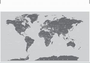 Black and White World Map Wall Mural World Map Wall Mural Grey 6133 World Map