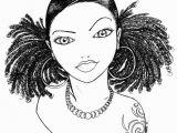 Black Art Black Girl Coloring Pages Babette
