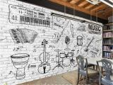 Black Art Wall Murals Custom Size Diy Living Room Wall Murals