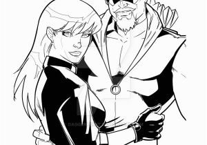 Black Canary Coloring Pages Green Arrow Black Canary by Daggerpoint On Deviantart