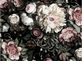 Black Floral Wall Mural 3d Dark Floral Xl Wall Removable Wallpaperpeel & Stick