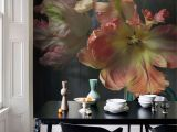 Black Floral Wall Mural Bursting Flower Still Mural Trunk Archive Collection From