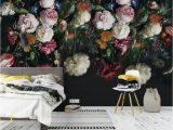 Black Floral Wall Mural Pin by Rose Higgs On Half Bath Ideas