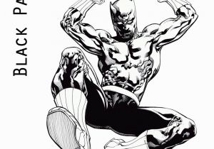 Black Panther Superhero Coloring Pages Black Panther 2018 Coloring Page
