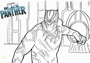 Black Panther Superhero Coloring Pages Black Panther In Marvel Coloring Page Free Printable Coloring