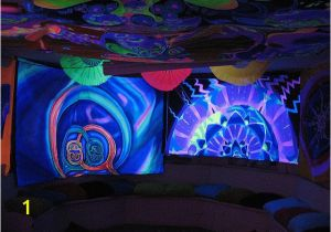 Blacklight Murals We are Going to Hang Black Sheets On the Walls and Encourage Our