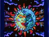 Blacklight Wall Murals Details About Psychedelic Om Sun Moon Uv Tapestry Fluorescent
