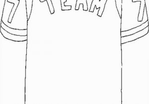 Blank Football Jersey Coloring Page 25 Blank Football Jersey Coloring Page