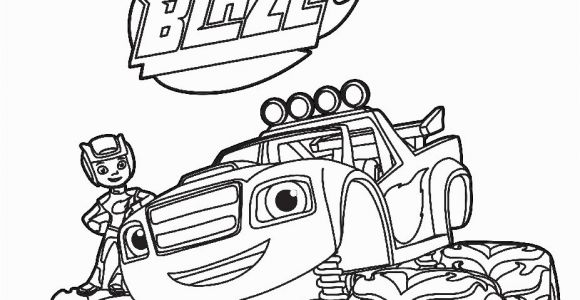 Blaze and the Monster Machines Nick Jr Coloring Pages Focus Blaze Coloring Pages Simplified and the Monster Machine Best