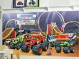 Blaze and the Monster Machines Wall Mural Roommates 72 In W X 126 In H Blaze Xl Chair Rail 7 Panel