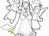 Blessed Mother Coloring Page assumption Of the Blessed Virgin Mary Catholicism