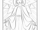 Blessed Mother Coloring Page Best Hail Mary Coloring Sheet Collection